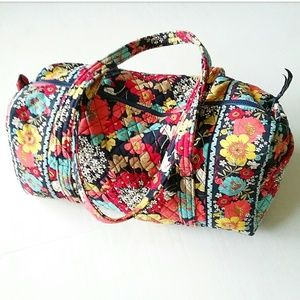 Vera Bradley Large Floral Travel Duffle Bag 18×11